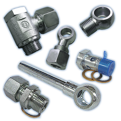 BANJO BOLTS, FITTINGS & ADAPTORS