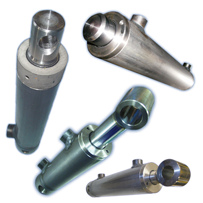 Hydraulic cylinders, ramparts and components | Steerforth online