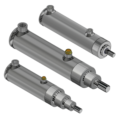 Hydraulic telescopic cylinders